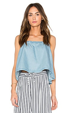 Chet Top in Medium Wash Chambray