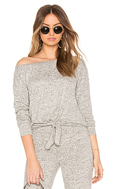 Lounge Tie Front Knit Top