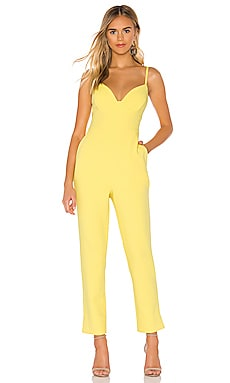 Plunging Cut Out Jumpsuit BCBGMAXAZRIA $298
