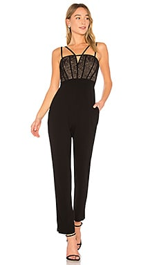 Patrycia Sleeveless Jumpsuit With Lace In Black