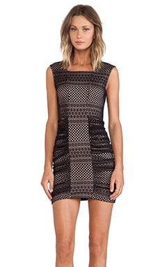BCBGMAXAZRIA Dell Mini Dress in Black