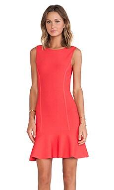 BCBGMAXAZRIA Padma U Back Dress in Red Berry