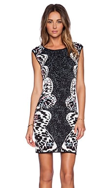 BCBGMAXAZRIA Audrie Dress in Black Combo