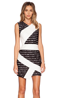 BCBGMAXAZRIA Dalia Dress in White Combo