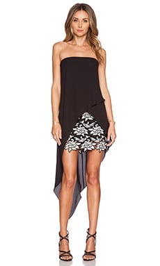 BCBGMAXAZRIA Krystin Dress in Black Combo