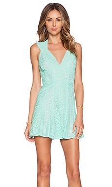 BCBGMAXAZRIA Fit and Flare Mini Dress in Breeze