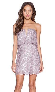 BCBGMAXAZRIA Kate Dress in Lilac Mauve Combo