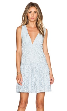 BCBGMAXAZRIA Jodene Blue Lace Dress in Blue Smoke