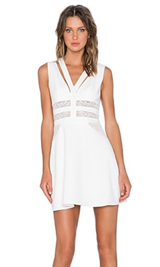 BCBGMAXAZRIA Karleigh Dress in Off White