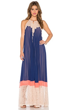BCBGMAXAZRIA Brieena Maxi Dress in Blue Depths Combo