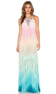 BCBGMAXAZRIA Chelsie Maxi Dress in Light Fuschia Combo