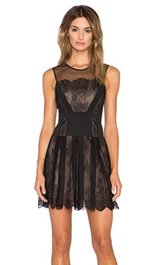 BCBGMAXAZRIA Cadee Lace Dress in Black