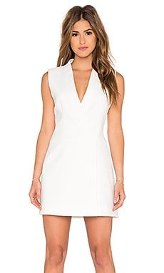 BCBGMAXAZRIA Caryn Crossover Front Dress in White