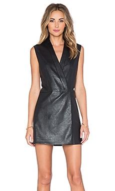 BCBGMAXAZRIA Caryn Crossover Front Dress in Black