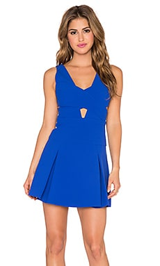 BCBGMAXAZRIA Harlie Cut Out Mini Dress in Royal Blue Combo