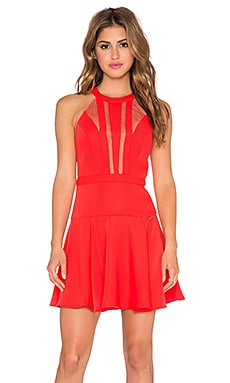 BCBGMAXAZRIA Halter Mini Dress in Bright Poppy