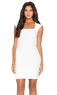 BCBGMAXAZRIA Cap Sleeve Midi Dress in Gardenia