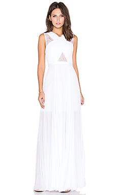 BCBGMAXAZRIA Cross Front Gown in White