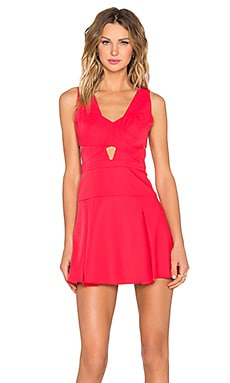 BCBGMAXAZRIA Harlie Dress in Red Berry