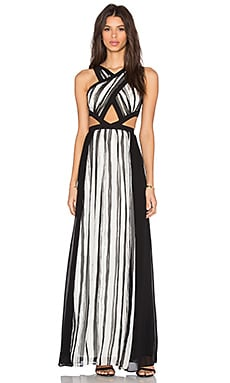 BCBGMAXAZRIA Malgosia Dress in Ecru Combo