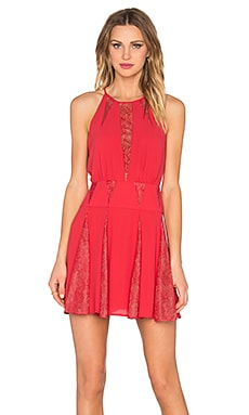 BCBGMAXAZRIA Teena Dress in Lipstick Red