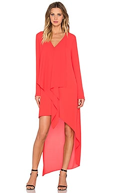 BCBGMAXAZRIA Kyndal Dress in Bright Poppy