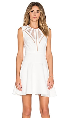BCBGMAXAZRIA Detail Mini Dress in Off White