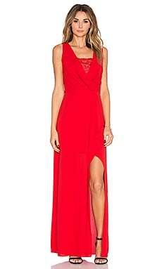 BCBGMAXAZRIA Slit Dress in Rouge Red