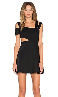 BCBGMAXAZRIA Strappy Mini Dress in Black