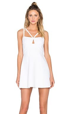 BCBGMAXAZRIA Charlot Double Strap Dress in White