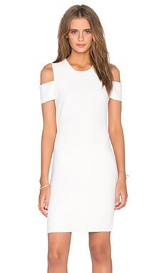 BCBGMAXAZRIA Monicka Open Shoulder Dress in Gardenia