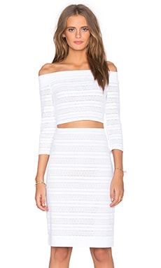 BCBGMAXAZRIA Bettie Dress in White
