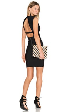 BCBGMAXAZRIA Oralie Open Back Dress in Black