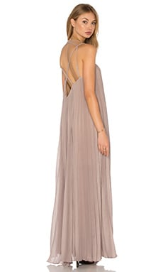 BCBGMAXAZRIA Isadona Maxi Dress in Hazelnut
