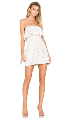 Leeah Strapless Dress in White