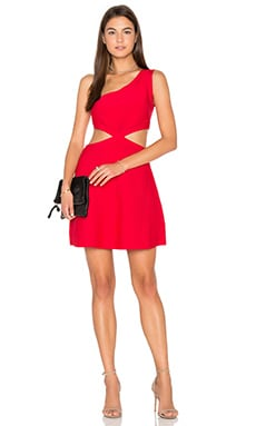 Jacquelln Mini Dress in Red Berry