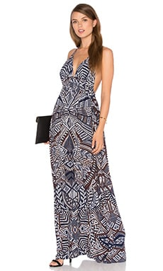 BCBGMAXAZRIA Kamala Maxi Dress in South Pacific Combo