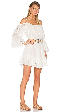 BCBGMAXAZRIA Cold Shoulder Dress in Off White Combo