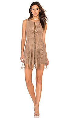 Hamiin Mini Dress en Light Mocha