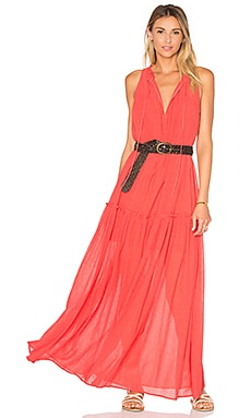Tie Front Maxi Dress in Pomegranate