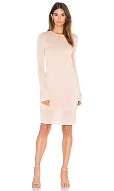 BCBGMAXAZRIA Sweater Midi Dress in Bare Pink