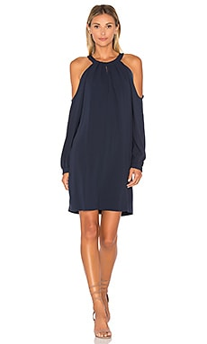 Open Sleeve Dress in Dark Navy