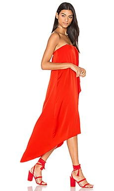 Livvy Hi Low Dress in Bright Red