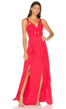 Juliana Gown in Lipstick Red