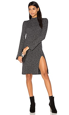 Gwynn Dress in Marled Black Combo
