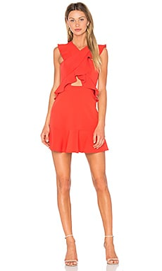 Careen Dress in Bright Poppy