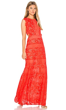 Merida Gown in Bright Poppy