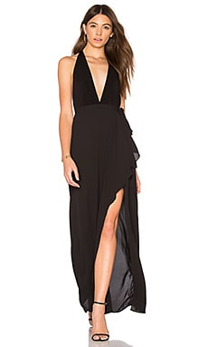 Deep V Gown in Schwarz