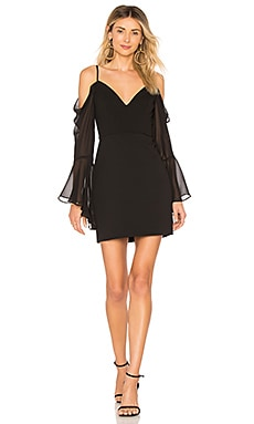 Pamella Cold Shoulder Dress In Black