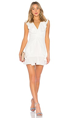 Tyrah Ruffle Mini Dress BCBGMAXAZRIA $160